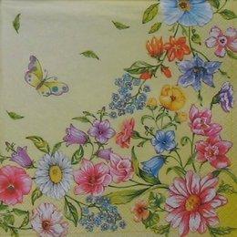 8231. Полевые цветы на желтом. 5 шт., 12 руб/шт