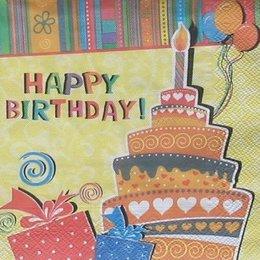8325. Торт HAPPY BIRTHDAY. 10 шт., 6 руб/шт