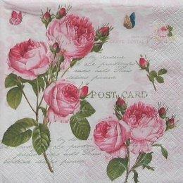 12741. Розовые розы на письменах.