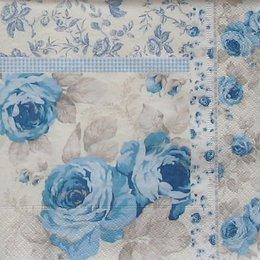 8360. Голубые розы с бордюром из роз.