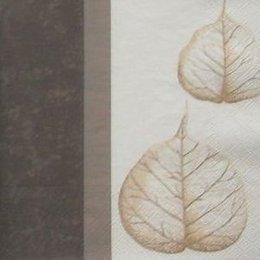 8710. Листья с коричневым бордюром. 5 шт., 12 руб/шт