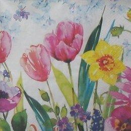 8866. Весенние цветы акварелью. 5 шт., 12 руб/шт