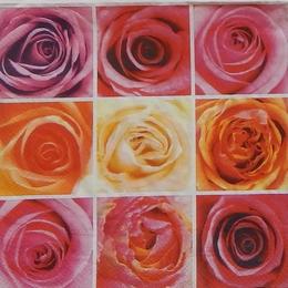 9032. Розы в квадратах. 10 шт., 7 руб/шт