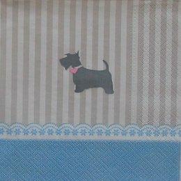 9175. Собачка на бежевых полосах 10 шт., 10 руб/шт.