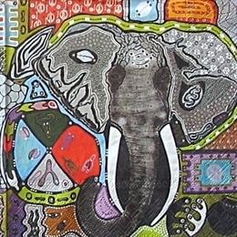 9305. Абстракция слон. 10 шт., 14 руб/шт