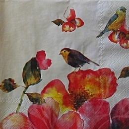 9315. Птички на цветах. 10 шт., 13 руб/шт