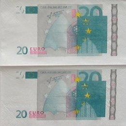 9325. 20 евро. 20 шт., 5,5 руб/шт