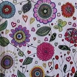 9558. Цветы на белом