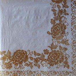 9724. Бордюр из золотых роз на бежевом. 5 шт., 10 руб/шт