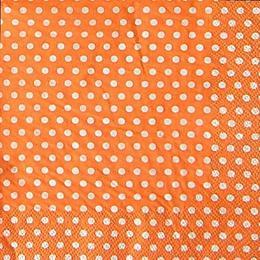 9876. Горошек на оранжевом. 5 шт., 12 руб/шт