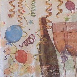 9913. Шампанское и конфетти. 5 шт., 9 руб/шт