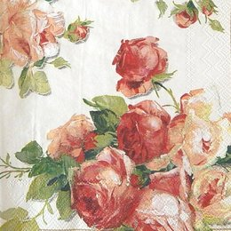 12844. Розы на белом фоне. 5 шт., 17 руб/шт