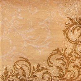 9936. Белые и золотые узоры на бежевом. 5 шт., 11 руб/шт