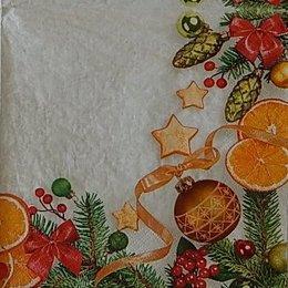 9952. Новогодние игрушки на ветке. 5 шт., 11 руб/шт