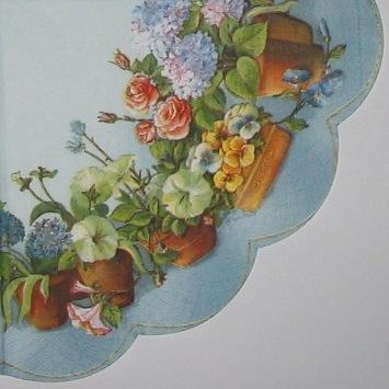 65. Цветы в горшках на голубом