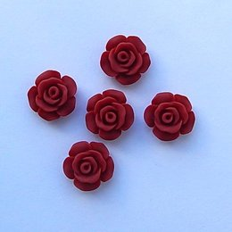 hm-1515.  Кабошон Роза, терракотовый, 5 шт., 10 руб/шт