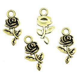 hm-1831. Подвеска Роза, цвет золото. 10 шт., 9 руб/шт
