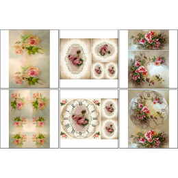 11546. Набор декупажных карт «Размытые розы»