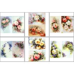 11550. Набор декупажных карт «Винтажные цветы»