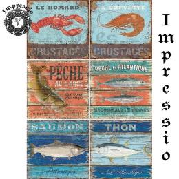 214553. Рисовая декупажная карта Impressio.  25 г/м2