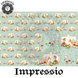 214864. Рисовая декупажная карта Impressio.  25 г/м2