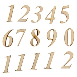 ОД-38. Цифры, фанера, 12 чисел