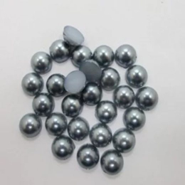 hm-1085. Полубусины, темно-серый, 20 шт., 3 руб/шт