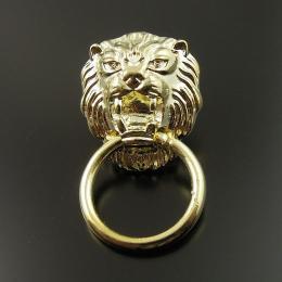 hm-1131. Ручка Голова Льва, цвет золото. 5 шт., 35 руб/шт