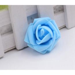 hm-1265. Розочка из фоамирана, синяя, 10 шт., 8 руб/шт