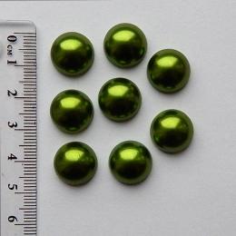 hm-1274. Полубусины, зеленый, 5 шт., 8 руб/шт