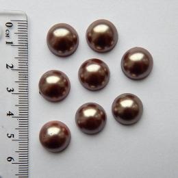 hm-1275. Полубусины, коричневый, 5 шт., 8 руб/шт