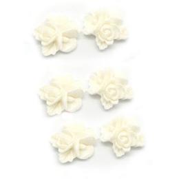 hm-1279. Кабошон Цветок, цвет молочный