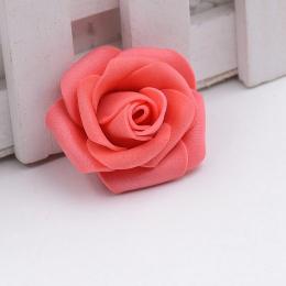 hm-1316. Розочка из фоамирана, коралловая. 10 шт., 8 руб/шт