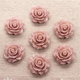hm-1365. Кабошон Роза, цвет пыльная роза. 10 шт., 17 руб/шт