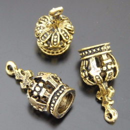 hm-1413. Подвеска Корона, цвет бронза. 10 шт., 17 руб/шт
