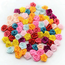 hm-1434. Розы из ткани, микс 36 шт