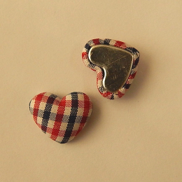 hm-1531. Декор Сердечки в клеточку, цвет красно-синий