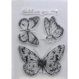 hm-1560. Набор силиконовых штампов Бабочки