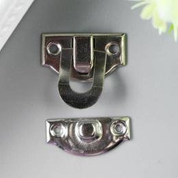 hm-2012. Замок для шкатулки, цвет серебро, 10 шт., 18 руб/шт