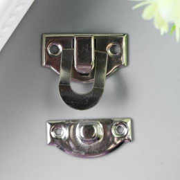 hm-2012. Замок для шкатулки, цвет серебро, 5 шт., 22 руб/шт