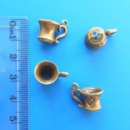 hm-343. Подвеска чашка, античная бронза. 5 шт., 24 руб/шт