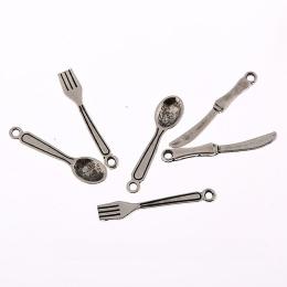 hm-655. Подвеска Ложка, Вилка, Нож. 5 наборов, 35 руб/наб