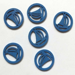 hm-731. Парусник, цвет синий, дерево. 10 шт., 6 руб/шт