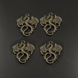 hm-766. Подвеска Дракон, цвет античная бронза. 5 шт., 24 руб/шт.