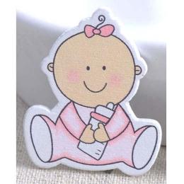 hm-918. Декор Малыш, розовый, дерево. 5 шт., 17 руб/шт