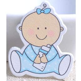 hm-919. Декор Малыш, голубой, дерево. 5 шт., 17 руб/шт