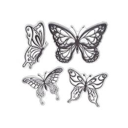 hm-999. Набор силиконовых штампов Бабочки
