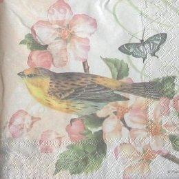 12034. Птица на розовом цветке. 5 шт., 23 руб/шт