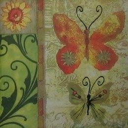 12050. Бабочки и узорный бордюр