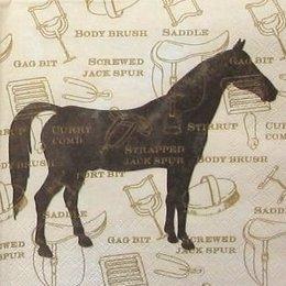 12075. Коричневая лошадь на бежевом, 10 шт.,17 руб/шт